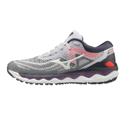 MIZUNO WAVE SKY 4 WIDE 女 跑步鞋 灰-J1GD201242
