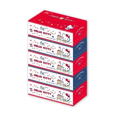 春風 Hello Kitty鄉村風盒裝面紙 150抽x5盒x10串/箱