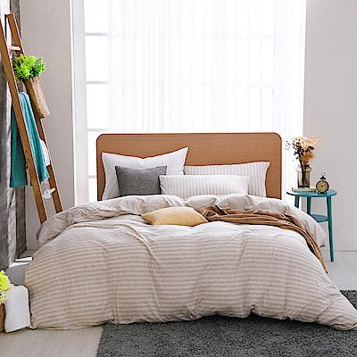 鴻宇 雙人床包薄被套組 天竺棉悠悠卡M 2619