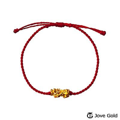Jove Gold 漾金飾 財運亨通黃金貔貅繩手鍊
