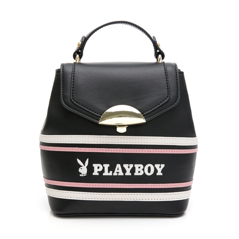 PLAYBOY-  小後背包可肩背 美學系列 -黑色