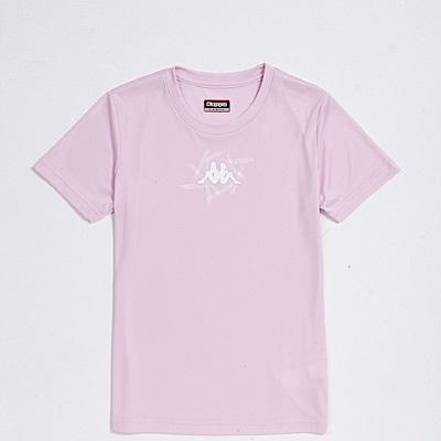 KAPPA義大利 精典女吸濕排汗短袖衫~粉紅/白 304P7G0XLB