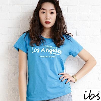 ibs los Angeles字母T-水藍
