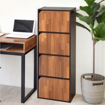 [時時樂限定]《HOPMA》DIY巧收簡約四門收納櫃/書櫃