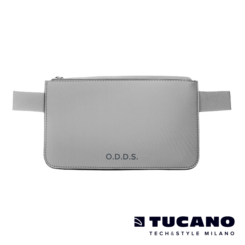 TUCANO X O.D.D.S. 潛水布防水防盜拉鍊式腰包-灰
