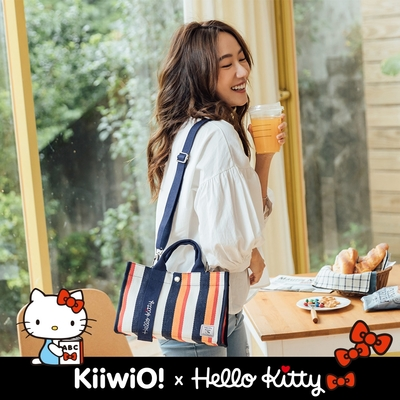 Hello Kitty x Kiiwi O! 聯名款.極厚磅機能兩用功能托特包 GOODLUCK