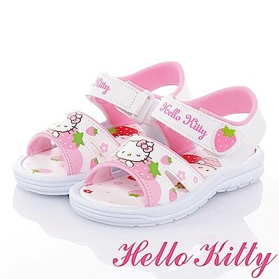 (雙11)HelloKitty 可愛舒適輕量休閒涼童鞋-白