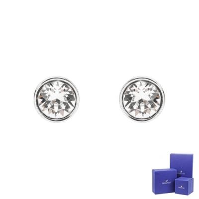 SWAROVSKI 施華洛世奇 Tennis璀璨圓形水晶銀色耳環