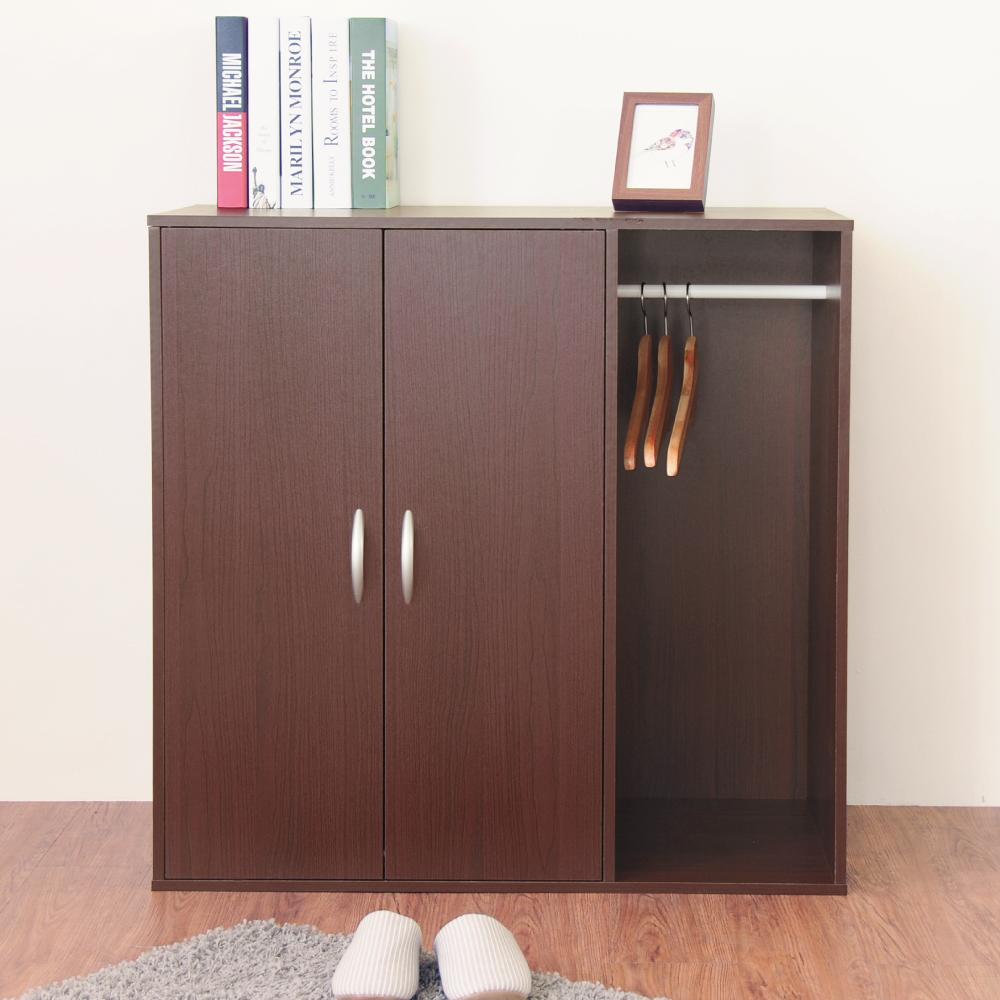 《HOPMA》DIY巧收二門一格組合式衣櫃/衣櫥/櫃子-寬90 x深48 x高90cm