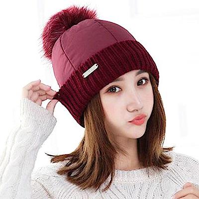 EHD 羽絨加棉加厚防風保暖發熱毛帽(5色任選)