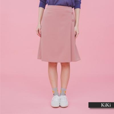 【KiKi】上班族系列氣質-及膝裙(二色)