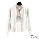 點點領結袖口束厚針織上衣 共二色 TATA-F