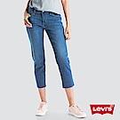 Levis 女款 中腰寬鬆 牛仔長褲 Boyfriend Fit 褲管裁剪不收邊