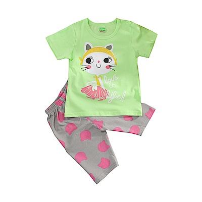 女童短袖清涼套裝 k51078 魔法Baby