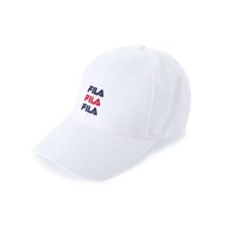 FILA 時尚LOGO帽-白 HTU-5005-WT