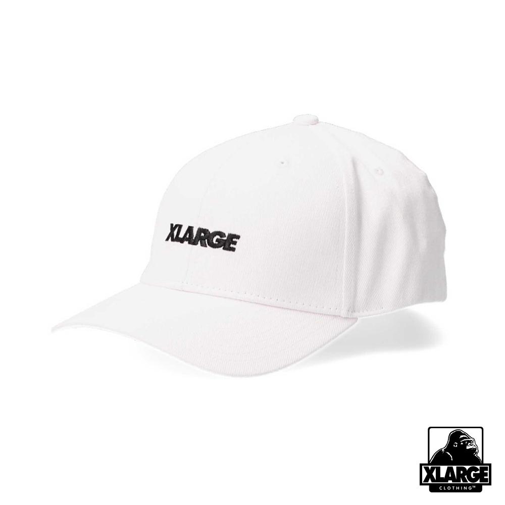 XLARGE EMBROIDERY STANDARD LOGO 6PANEL CAP棒球帽-白