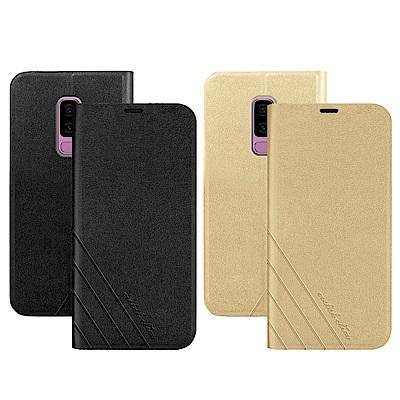Metal-Slim Samsung Galaxy S9+ 高仿小牛皮壓紋TPU皮套