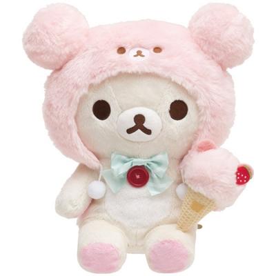 懶妹蜂蜜小熊快樂冰淇淋系列毛絨公仔 (M) 。懶妹San-X