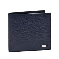 BALLY 經典品牌LOGO荔枝紋牛皮摺疊短夾(黑/零錢袋)
