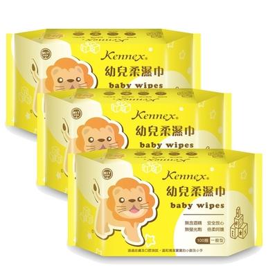【肯尼士】KD-572275幼兒 純水柔濕巾 100抽(濕紙巾 台灣製 無酒精 無螢光劑)(9包裝)