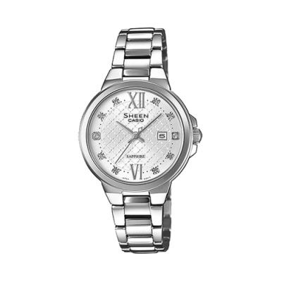CASIO SHEEN 永花雅印日期晶鑽腕錶-SHE-4524D-7AUDR-30mm