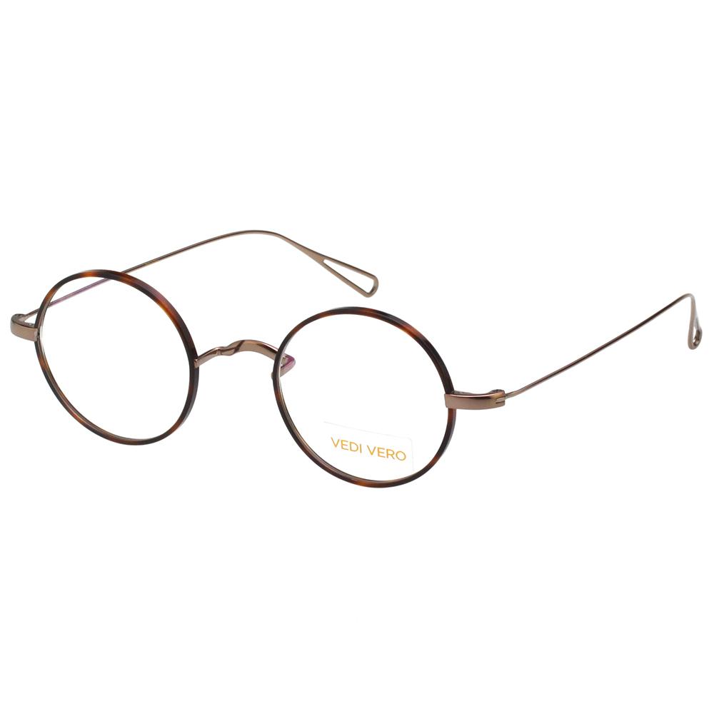 VEDI VERO 圓面復古 β鈦 光學眼鏡 (琥珀色) @ Y!購物