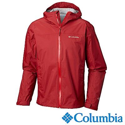 Columbia哥倫比亞 男-Omni-Tech防水快排外套-紅URE20230