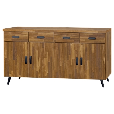 Boden-杰恩5尺工業風收納餐櫃/碗盤櫃/電器櫃-151x40x78cm