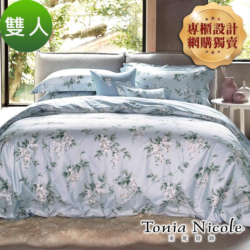 Tonia Nicole東妮寢飾 塞納微風環保印染100%精梳棉兩用被床包組(雙人)