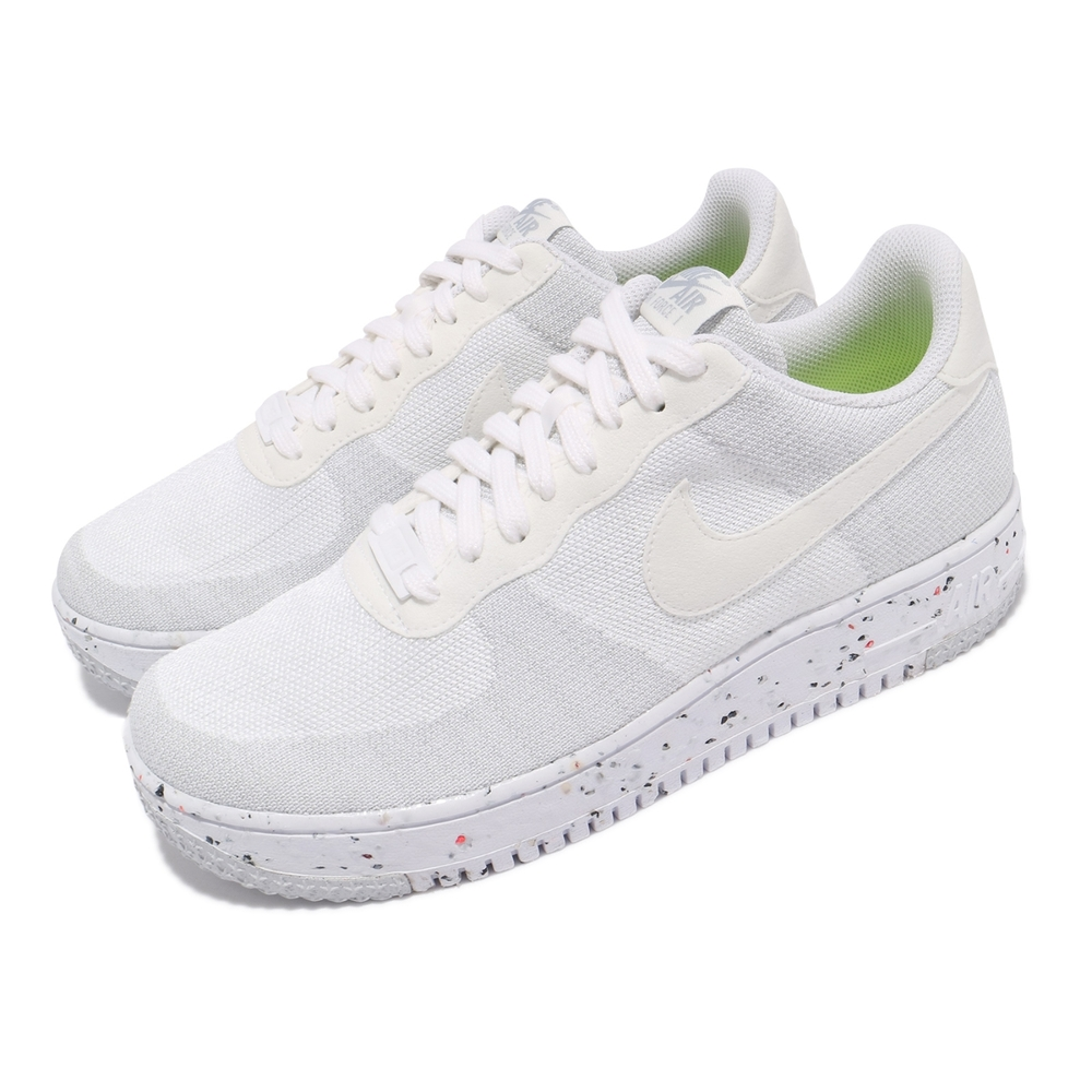 Nike 休閒鞋 AF1 Crater Flyknit 男鞋 針織鞋面 舒適 簡約 球鞋 穿搭 全白 DC4831100