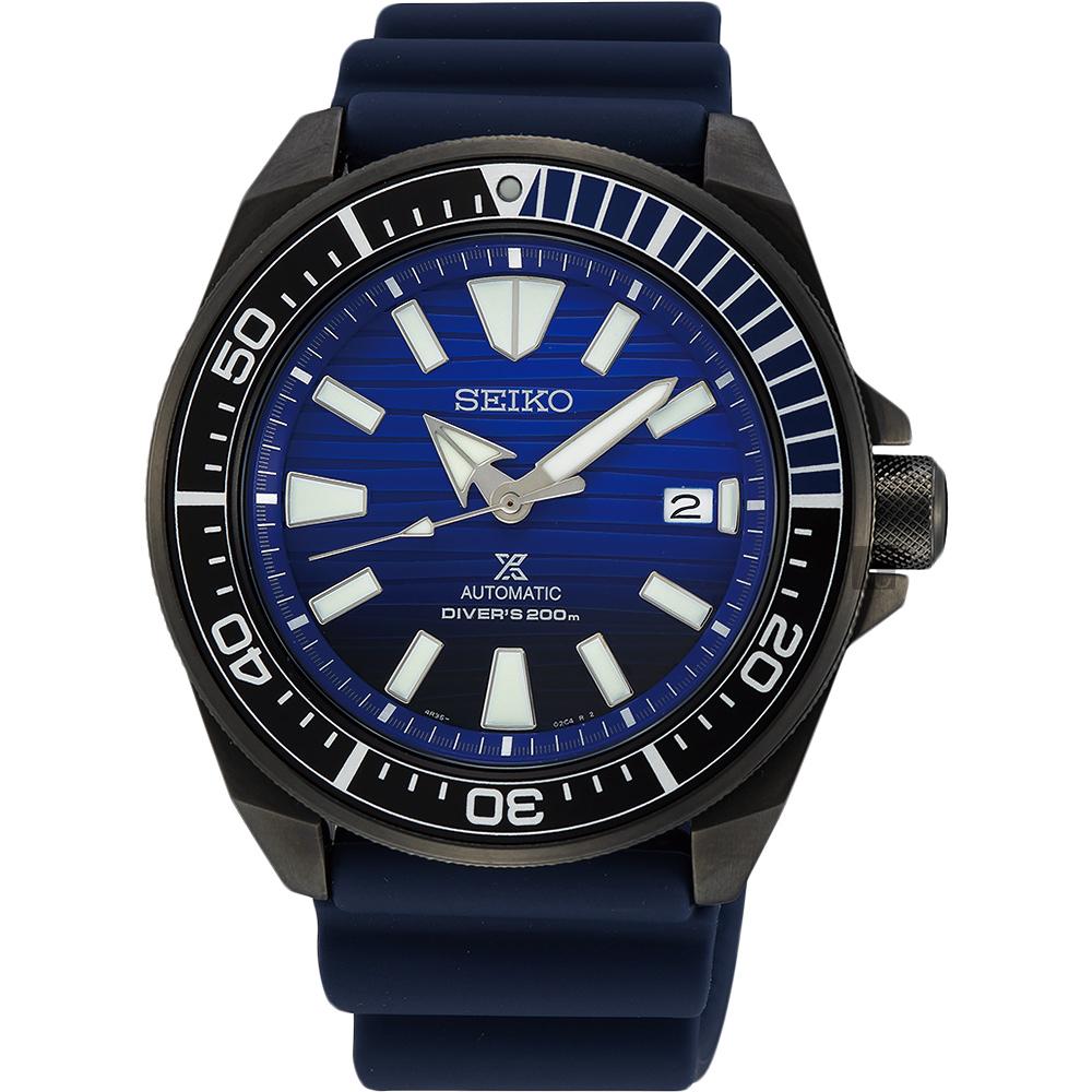 SEIKO 精工 Prospex 200米潛水愛海洋藍鯨機械錶-43.8mm 4R35-01X0A