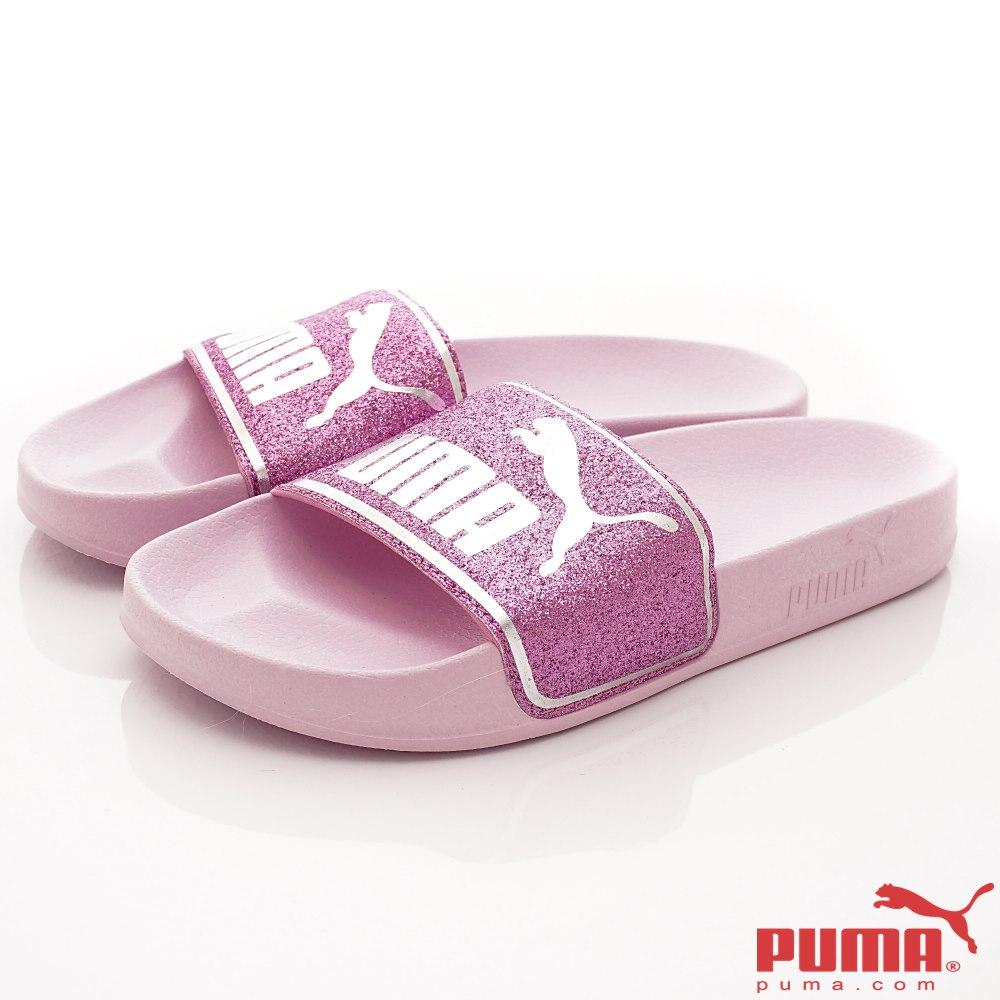 PUMA童鞋 超輕量止滑拖鞋款 TH67324-01粉紫(大童段)