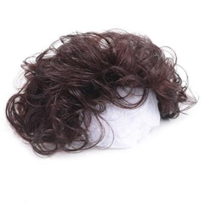 米蘭精品 假髮片真髮絲-短捲髮隱形無痕補髮女假髮母親節禮物3色73us48