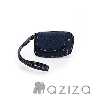 AZIZA 小象手拎零錢包-藍