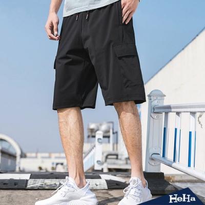 多口袋造型休閒短褲-HeHa