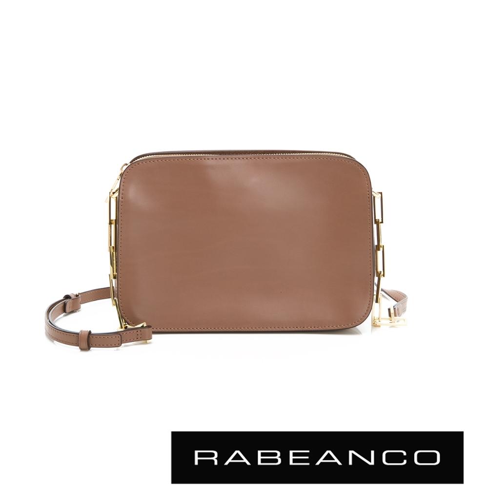 RABEANCO LUXURY極致奢華系列鍊帶包 灰卡其