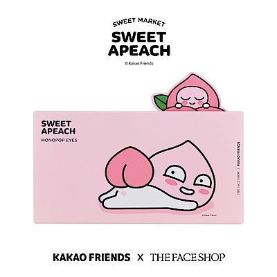 THE FACE SHOP SWEET APEACH 甜桃果汁眼頰盤-01