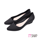 TTSNAP雨鞋-晴雨兩用粉嫩低跟防水鞋 黑