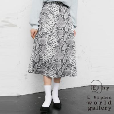E hyphen 時尚動物紋設計長裙