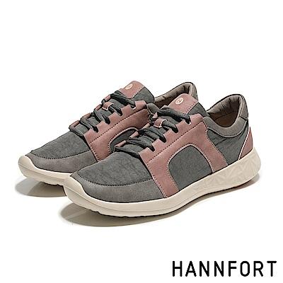 HANNFORT ICE撞色尼龍運動鞋-女-鐵鏽灰