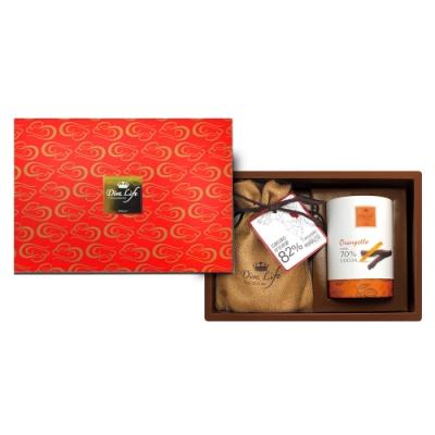 Diva Life 巧克力商業禮盒-大紅限定B(鈕扣巧克力+鮮橘棒)