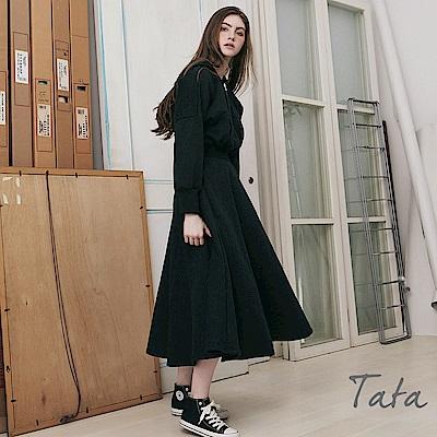 拉鍊連帽洋裝 共二色 TATA
