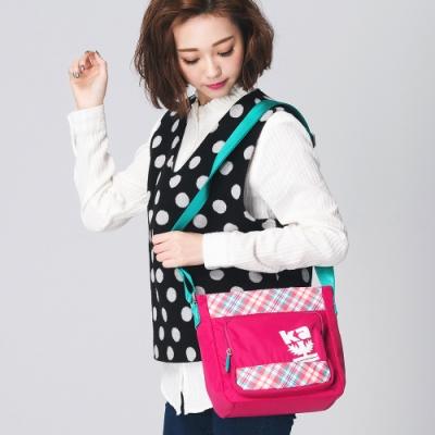 【金安德森】樂活行旅  基本直立式斜側輕旅包-桃紅