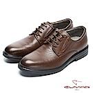 CUMAR 輕量舒適 真皮綁帶上班鞋-棕
