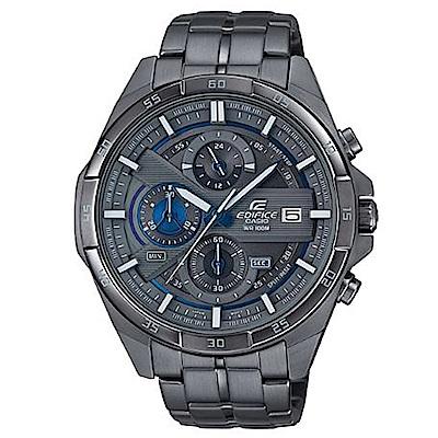 EDIFICE 極速俐落3D立體盤設計指針賽車錶(EFR-556GY-1)灰/48.7mm