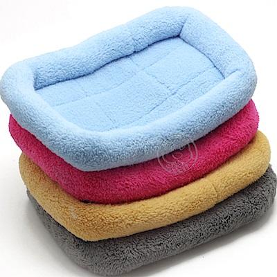 素色絨毛寵物圍護防滑睡墊S號40*27CM顏色隨機出貨