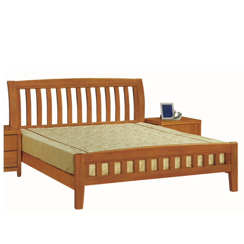 綠活居 亞利時尚5尺實木雙人床台(不含床墊)-153x206.7x106cm免組