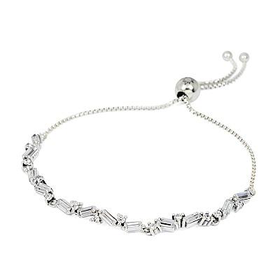 Pandora 潘朵拉 華麗冰河鑲鋯 可調整純銀手鍊手環