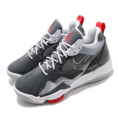Nike 籃球鞋 Jordan Zoom 92 男鞋 喬丹 氣墊 避震 包覆 球鞋 運動 灰 白 CK9183005