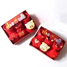 [Kori Deer 可莉鹿]春節喜氣鈴鐺防滑嬰兒襪3雙組禮盒